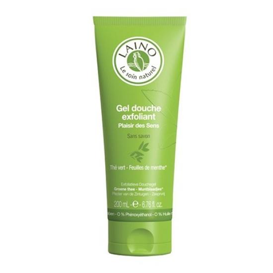Лено Гель-Эксфолиант для душа Зеленый чай с мятой Laino green tea and mint shower gel exfoliant