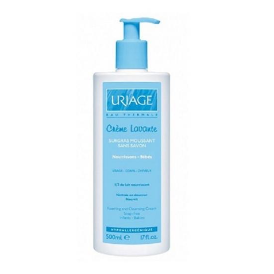 Урьяж Очищающий пенящийся крем для детей и новорожденных Uriage Creme Lavante Foaming and cleansing cream Babies
