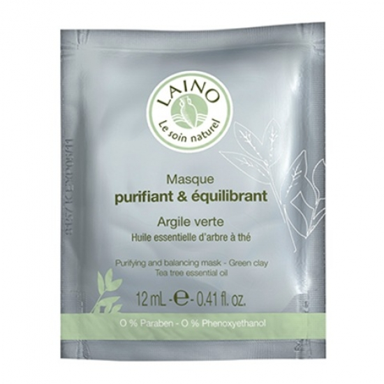 Лено Очищающая и регулирующая маска для лица с зеленой глиной Laino Purifying and Balancing Mask - Green Clay