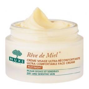 Нюкс Рэв Де Мьель Ночной крем для лица, восстанавливающий комфорт Nuxe Reve de Miel Ultra comfortable face cream night