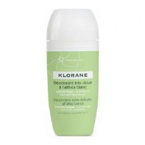 Клоран Дезодорант шарик с белым алтеем Klorane Very gentle deodorant with white althea roll on