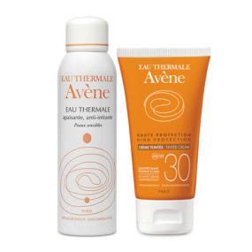 Авен Набор Крем солнцезащитный с тонирующим эффектом SPF30+ и Термальная вода (2 средства)