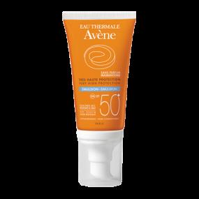 Авен Эмульсия солнцезащитная SPF 50+ без отдушек Avene Solaires Peaux Sensibles Sans Parfum Emulsion SPF 50+