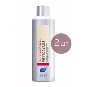 Фито Фитоциан Шампунь укрепляющий, от выпадения волос у женщин (2 штуки) Phyto Phytocyane Revitalizing shampoo