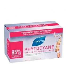 Фито Фитоциан Средство против выпадения волос у женщин Phyto Phytocyane Densifying treatment serum