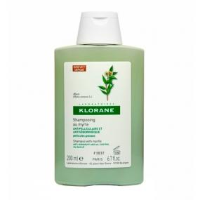 Клоран Шампунь с Миртом от жирной перхоти Klorane Anti-dandruff treatment shampoo