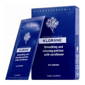 Клоран Маска-компресс для контура глаз успокаивающая Klorane Soothing and Relaxing Patches for Tired-Eyes
