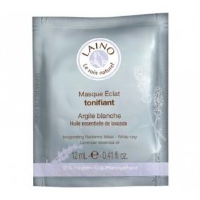 Лено Тонизирующая маска для сияния кожи лица с белой глиной Laino Face Mask Revitalizing