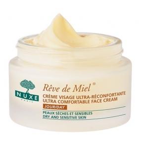Нюкс Рэв Де Мьель Дневной крем для лица, восстанавливающий комфорт Nuxe Reve de Miel Ultra comfortable face cream day