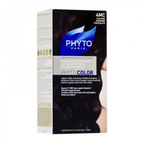 Фито Фитоколор Краска для волос Phyto Phyto Color Permanent coloration4MC Шатен Каштановый шоколад