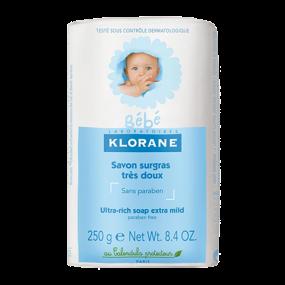 Клоран Бебе Мыло детское сверхпитательное Klorane Baby Ultra rich soap